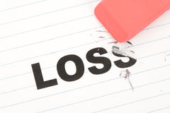 Eraser and word loss Royalty Free Stock Image