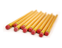 Erasers. School pencils (eraser ends Royalty Free Stock Photos