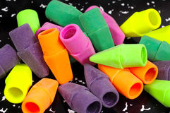 Erasers. Photo of Colorful Erasers Royalty Free Stock Photo