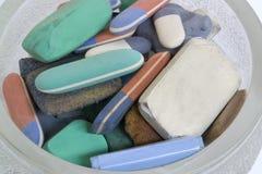 Erasers Stock Photos