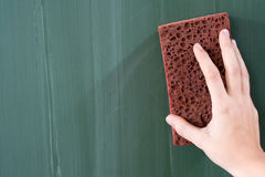 Erasing the Chalkboard Stock Image