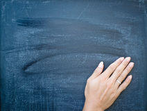 Erasing the chalkboard Royalty Free Stock Photo