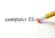 Erasing Computer Files Royalty Free Stock Image
