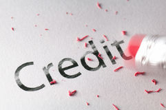 Erasing  Credit Stock Photos