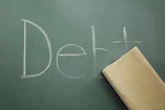 Erasing Debt Stock Images