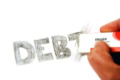 Erasing Debt Stock Photography