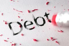 Erasing Debt Stock Photo