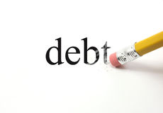Erasing Debt Stock Image