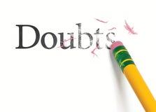 Erasing Doubts Stock Image