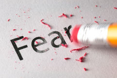 Erasing Fear Royalty Free Stock Photography