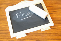 Erasing  Fear Stock Photography