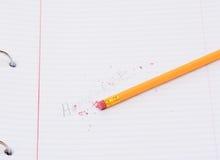 Erasing Homework Stock Image