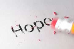 Erasing Hope Royalty Free Stock Photo