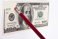 Erasing hundred dollar Royalty Free Stock Photography