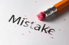 Erasing mistake Stock Images