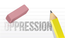 Erasing oppression concept illustration Stock Photography