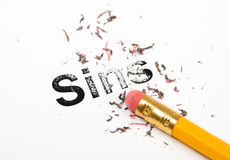 Erasing Sins Stock Photography