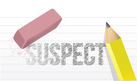 Erasing suspect concept illustration Royalty Free Stock Images