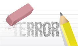 Erasing terror concept illustration Stock Image