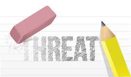 Erasing threat concept illustration. Design over a white background Stock Photography