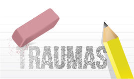 Erasing traumas concept illustration design Royalty Free Stock Images