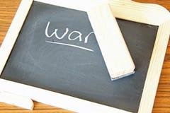 Erasing War Royalty Free Stock Images