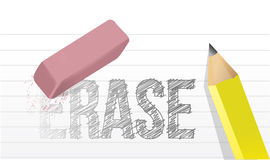 Erasing the word erase illustration design Stock Image