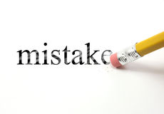 Erasing your Mistake Royalty Free Stock Photo