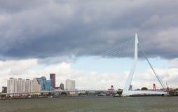 Erasma Bridge to Rotterdam Stock Photo