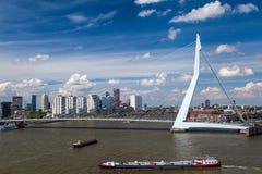Erasmus överbryggar i Rotterdam Royaltyfri Bild
