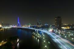 ERASMUS-Brücke bis zum Night Lizenzfreies Stockfoto