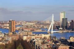 ERASMUS-Brücke, Rotterdam Stockbilder