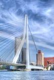 ERASMUS-Brücke, Rotterdam Stockbild