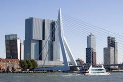 ERASMUS-Brücke, Rotterdam Stockfotos