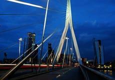 Erasmus bridge. In Rotterdam, The Netherlands stock photography