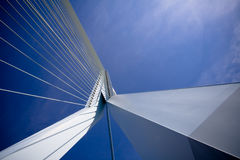 Erasmus Bridge. Details. Details of the Erasmus Bridge - the symbol of Rotterdam. View from the bridge royalty free stock photos