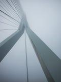 Erasmus Bridge en niebla densa Fotos de archivo libres de regalías