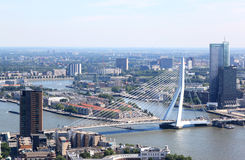 Erasmus Bridge i Rotterdam, Nederländerna Arkivbilder