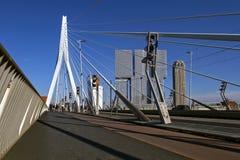Erasmus bridge - Netherlands .Over Nieuwe Maas river. Rotterdam, Netherlands. Erasmus Bridge Erasmusbrug   over Nieuwe Maas river. Rotterdam, Netherlands royalty free stock image