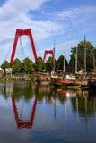 Erasmus bridge - Netherlands .Over Nieuwe Maas river. Rotterdam, Netherlands. Erasmus Bridge Erasmusbrug   over Nieuwe Maas river. Rotterdam, Netherlands royalty free stock photography