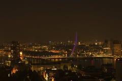Erasmus bridge at night. A photo of the Erasmus bridge at night royalty free stock images
