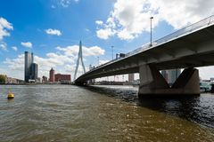 Erasmus bridge in Rotterdam Stock Photos