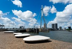 Erasmus bridge in Rotterdam. The Netherlands, Europe Stock Photos