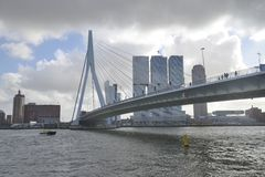 Erasmus Bridge Rotterdam Stock Photography