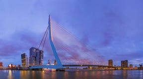 Erasmus bridge and Rotterdam cityscape - Netherlands Royalty Free Stock Image