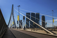 Erasmus bridge in Rotterdam, Holland, Netherlands. royalty free stock image