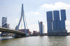 Erasmus Bridge in Rotterdam, the Netherlands Stock Photo