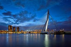Erasmus Bridge, Rotterdam, Netherlands Stock Images