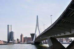 Erasmus bridge in Rotterdam Netherlands Holland Royalty Free Stock Photo