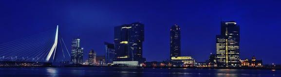 Erasmus Bridge with Rotterdam, Netherlands skyline Stock Images